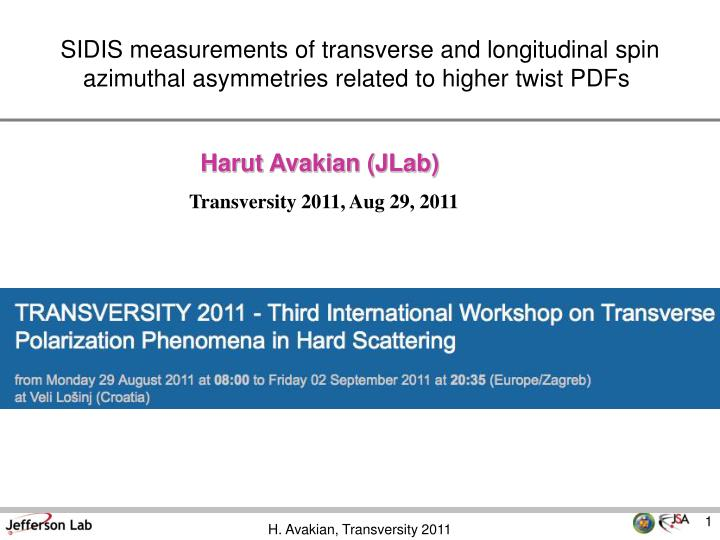 SIDIS measurements of transverse and longitudinal spin azimuthal asymmetries related to higher twist...