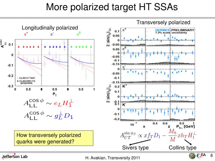 More polarized target HT SSAs