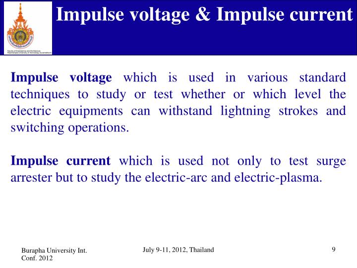 Impulse voltage & Impulse current