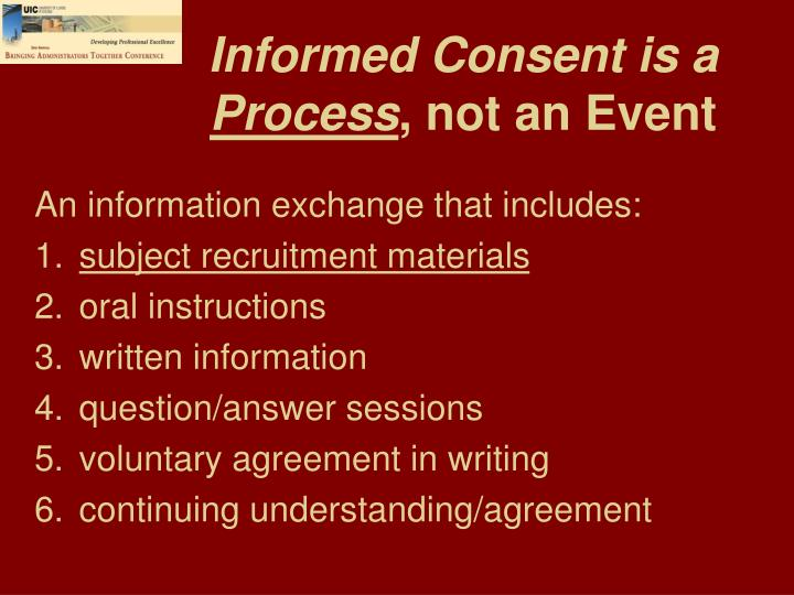 Informed Consent is a