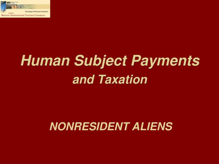 Human Subject Payments