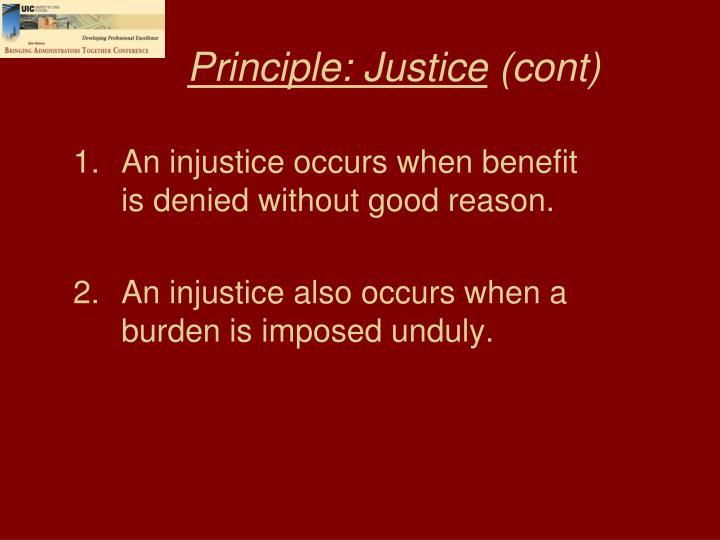 Principle: Justice