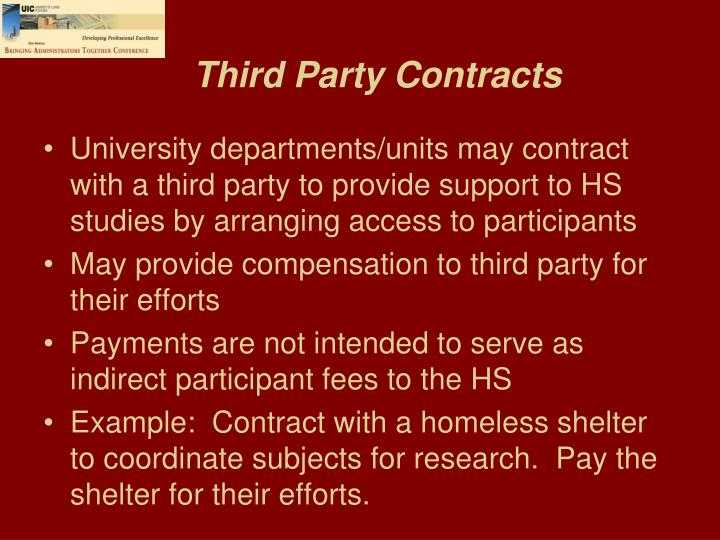 Third Party Contracts