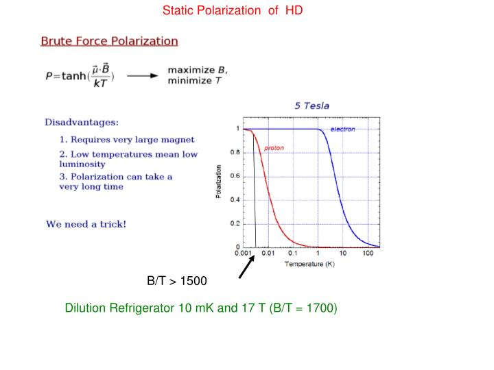 Static Polarization  of  HD