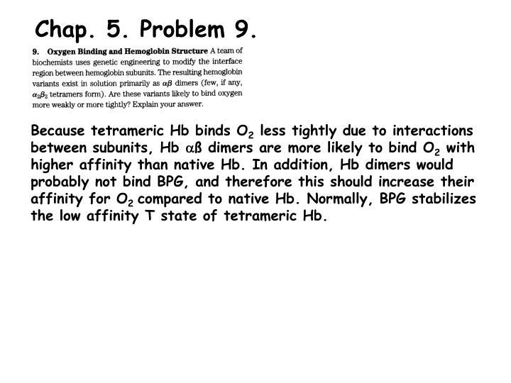 Chap. 5. Problem 9.