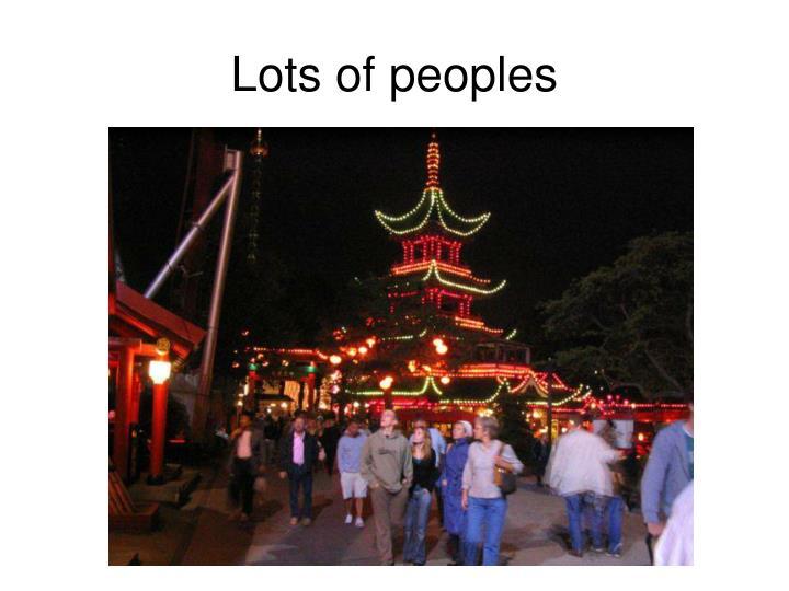 Lots of peoples