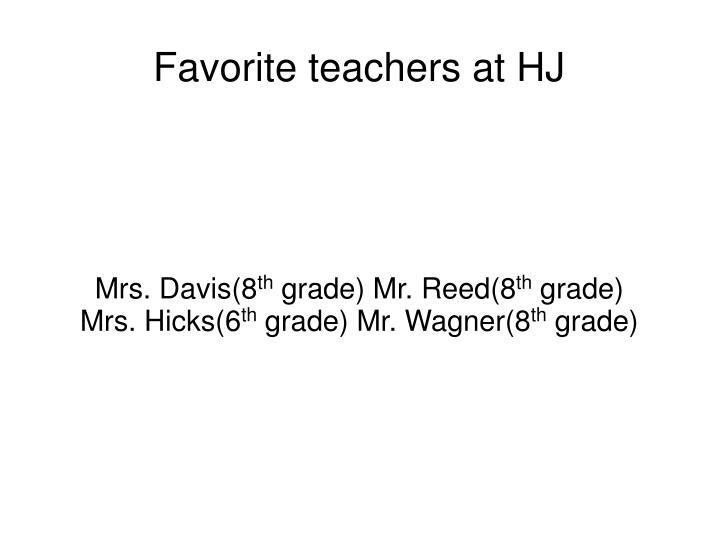 Mrs. Davis(8