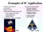 examples of ic application