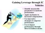 gaining leverage through ic vehicles