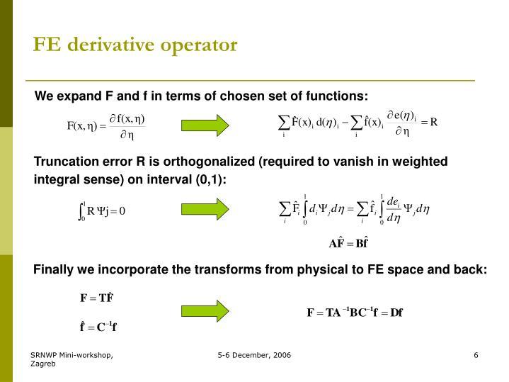 FE derivative operator