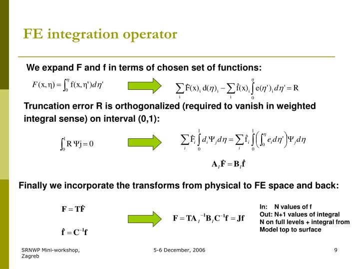 FE integration operator