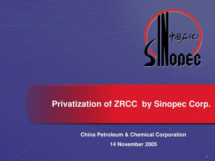 company overview of sinopec corp essay