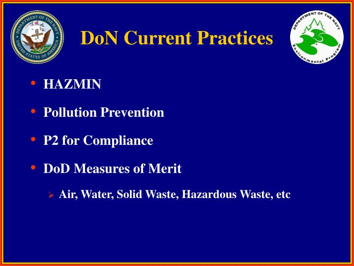DoN Current Practices