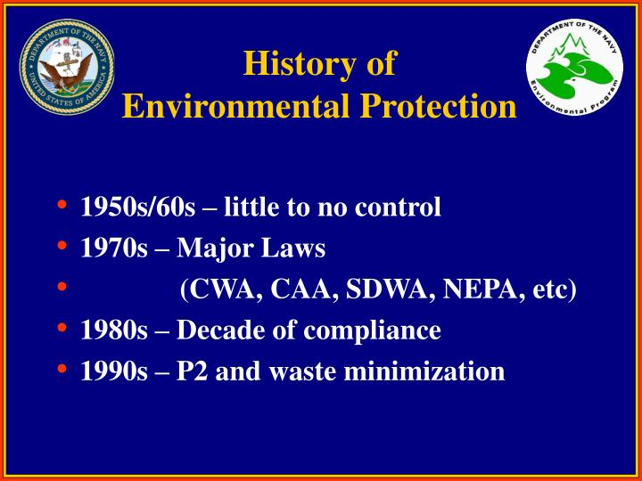 History of environmental protection
