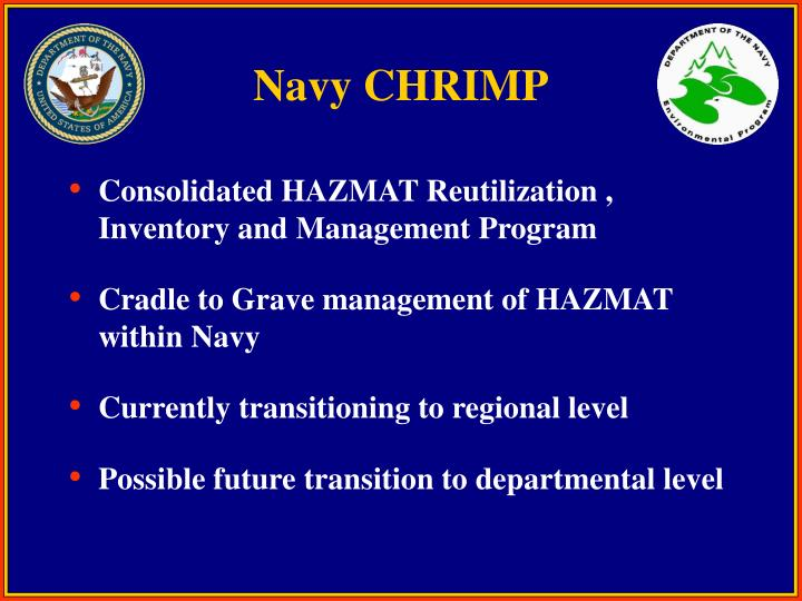 Navy CHRIMP