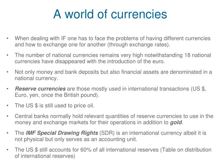 A world of currencies