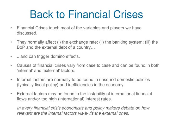 Back to Financial Crises