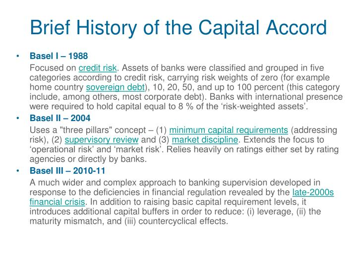 Brief History of the Capital Accord