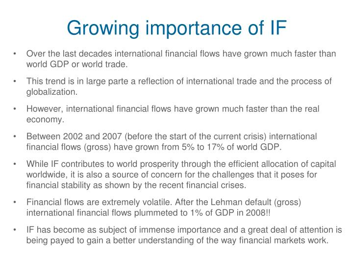 Growing importance of IF
