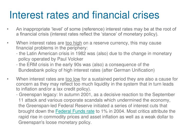 Interest rates and financial crises
