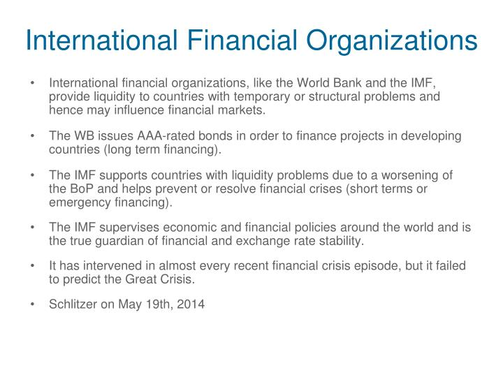 International Financial Organizations