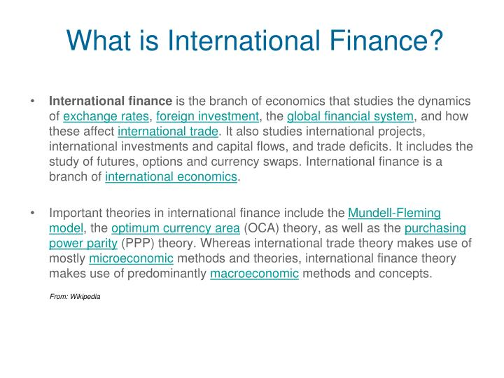What is International Finance?