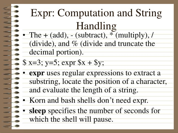 Expr: Computation and String Handling