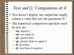 test and companions of if1