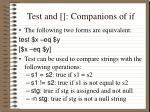 test and companions of if3