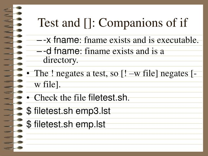 Test and []: Companions of if