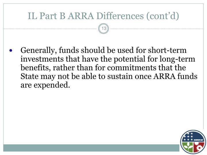 IL Part B ARRA Differences (cont'd)