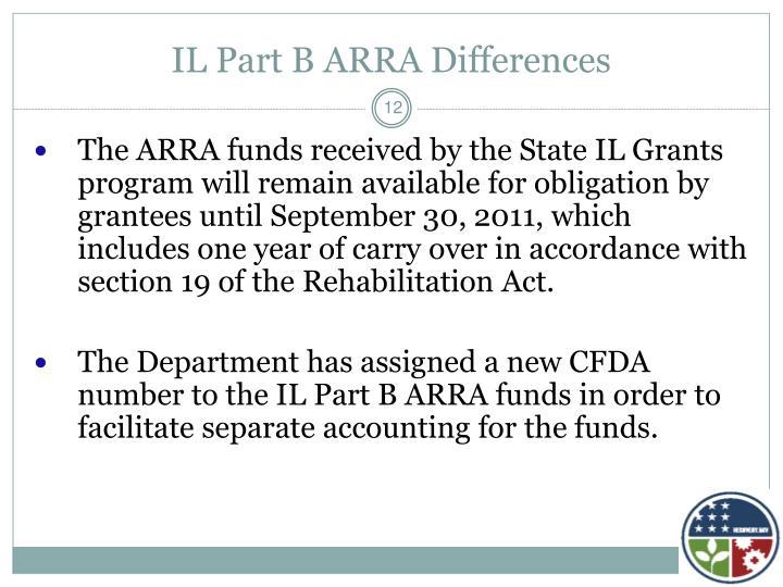 IL Part B ARRA Differences