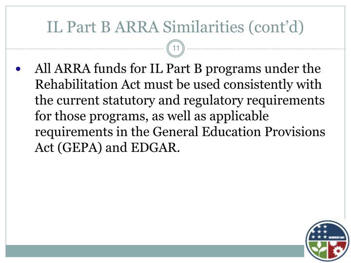 IL Part B ARRA Similarities (cont'd)
