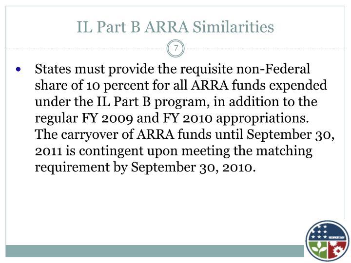 IL Part B ARRA Similarities