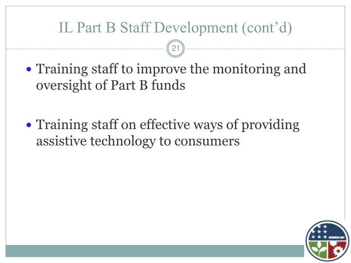 IL Part B Staff Development (cont'd)