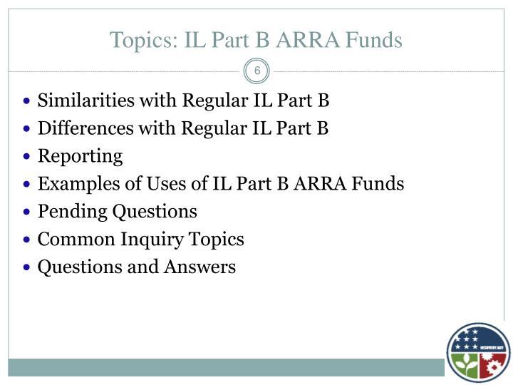 Topics: IL Part B ARRA Funds