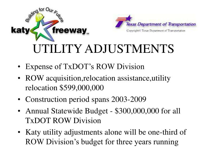 UTILITY ADJUSTMENTS