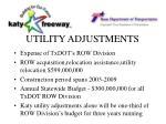 utility adjustments