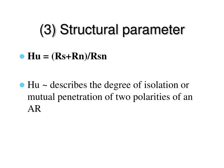 (3) Structural parameter