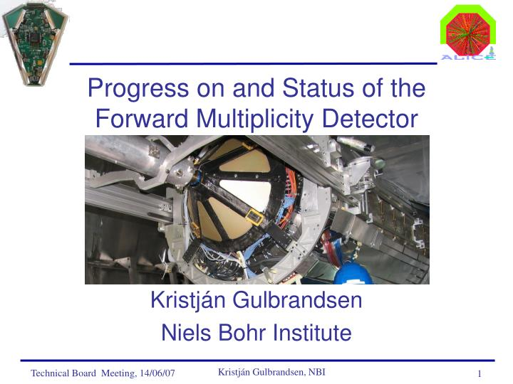 Progress on and status of the forward multiplicity detector