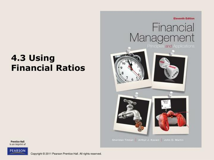 4.3 Using Financial Ratios