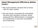 asset management efficiency ratios cont6