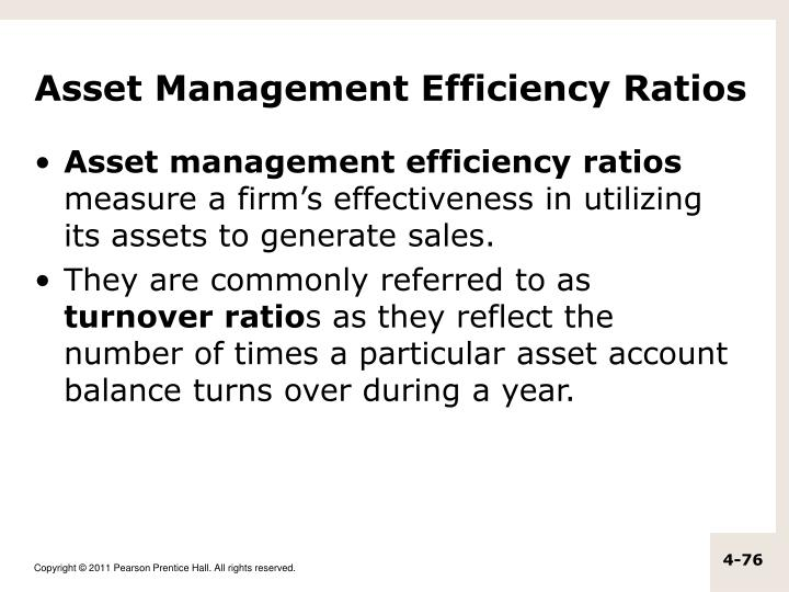Asset Management Efficiency Ratios