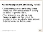 asset management efficiency ratios1