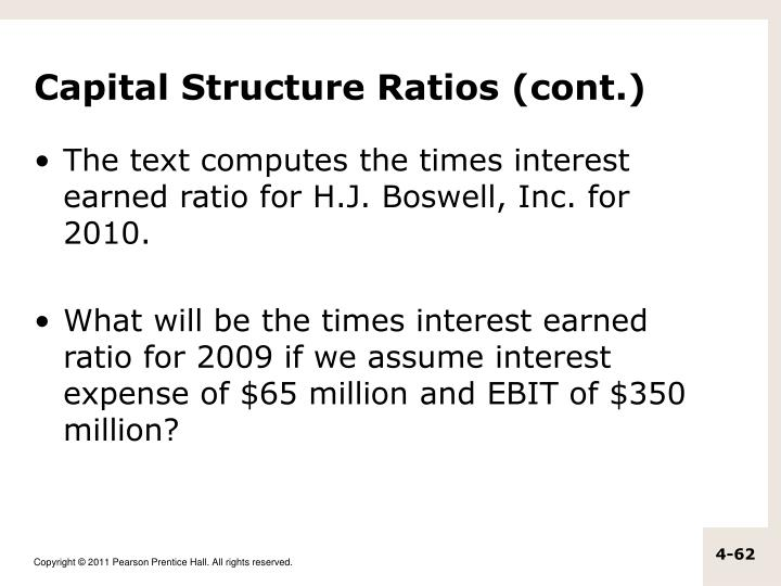 Capital Structure Ratios (cont.)