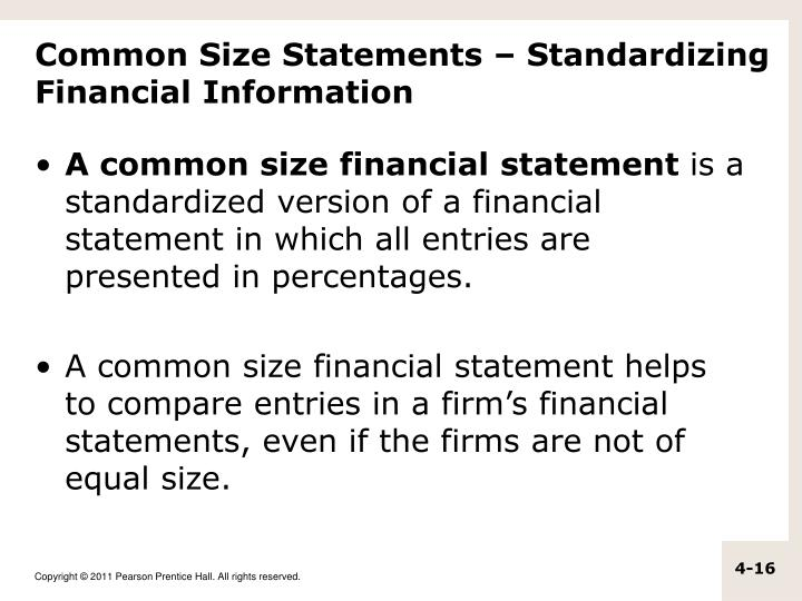 Common Size Statements – Standardizing Financial Information