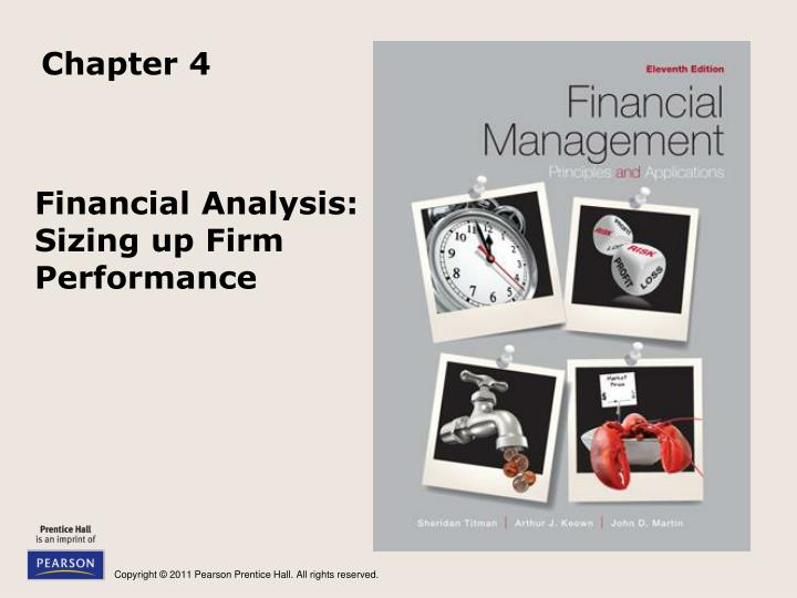 Financial analysis sizing up firm performance