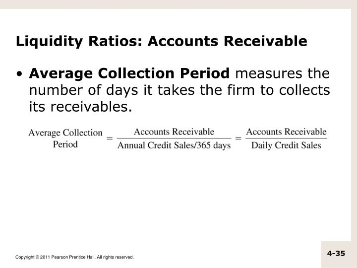 Liquidity Ratios: Accounts Receivable