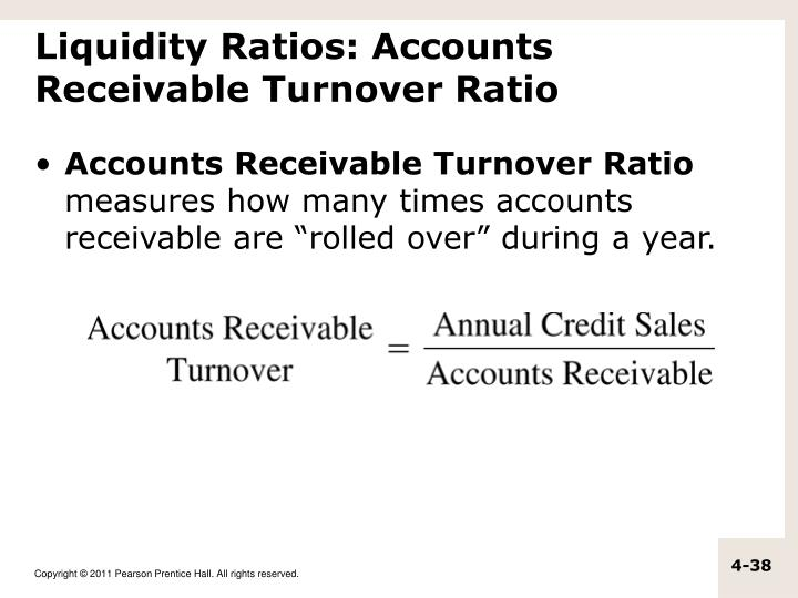 Liquidity Ratios: Accounts Receivable Turnover Ratio