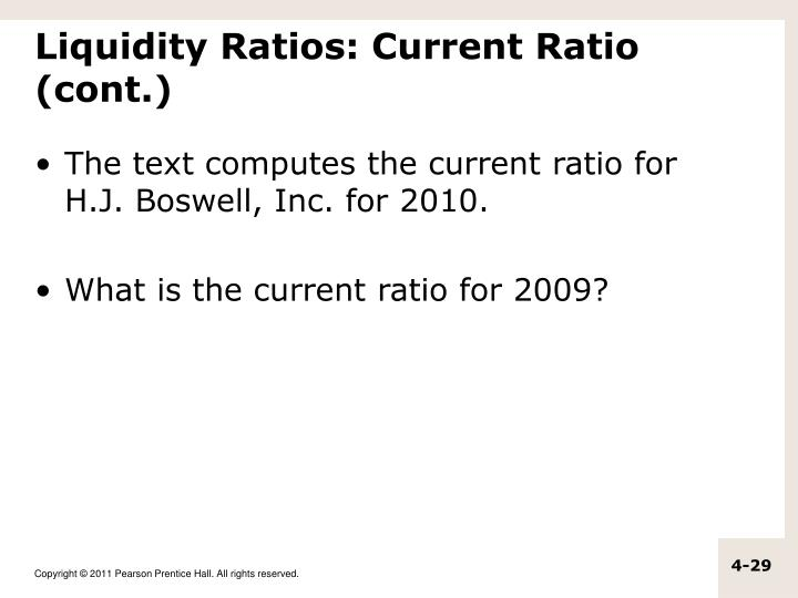 Liquidity Ratios: Current Ratio (cont.)